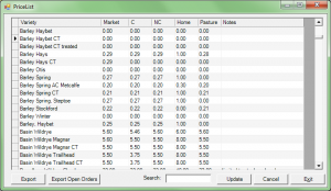 Seed Management Software View Price List